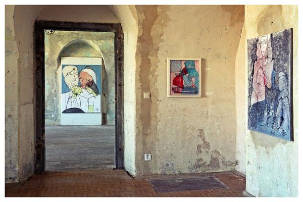 ...Kunst in alten Mauern gab es aber auch zu sehen