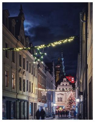 Weihnachtsstimmung in den Gassen von Pirna