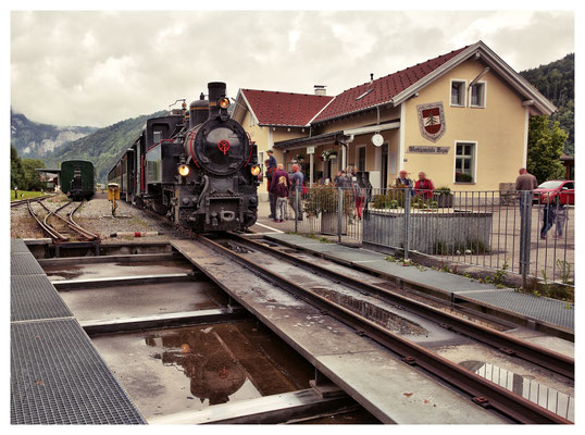 Endstation im Bahnhof Bezau