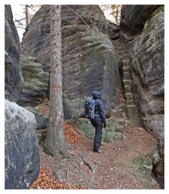 Der Weg ist das Ziel - alte Steiganlage wohl aus der Zeit vor 1900