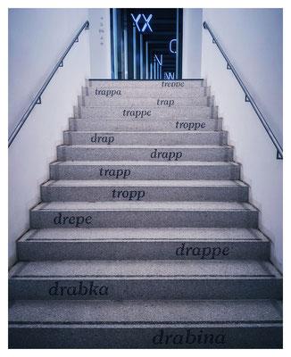 Eine Treppe - ein Glück, dass es dransteht...