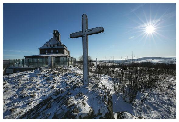 ...lag auf dem Schwartenberg tatsächlich etwas Schnee...