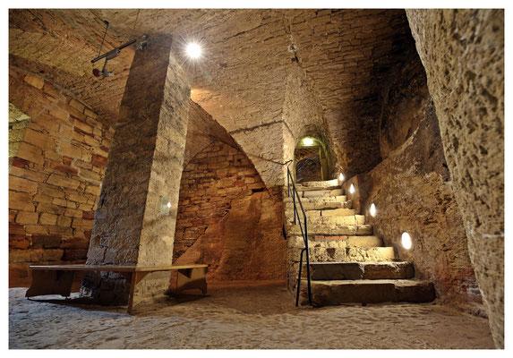 in den Kellern der Burg Waldeck