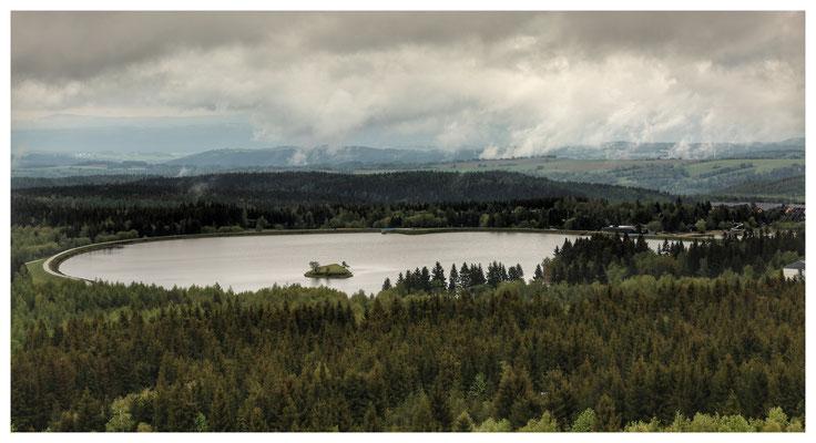 nach dem Regen: Aussicht vom Kahleberg