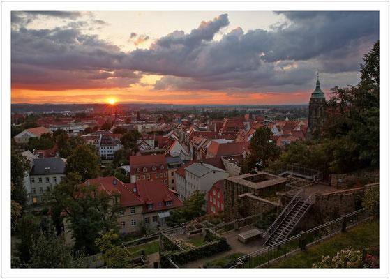 Sonnenuntergang am Schlossberghang