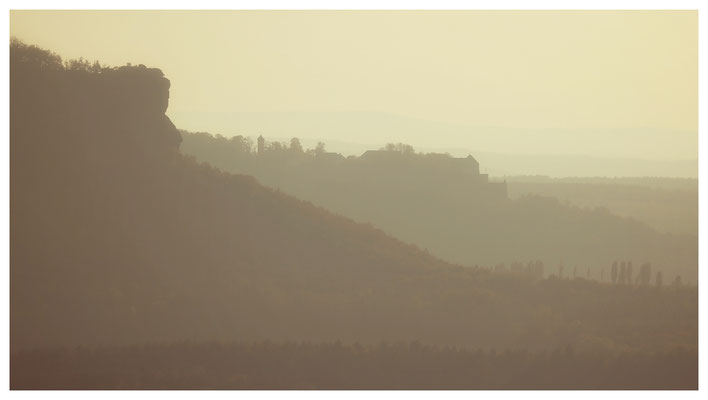 Goldener Herbst - Ausblick vom Brand in der Sächsischen Schweiz