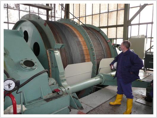 Fördermaschine im Uranbergwerk Königstein (2009)