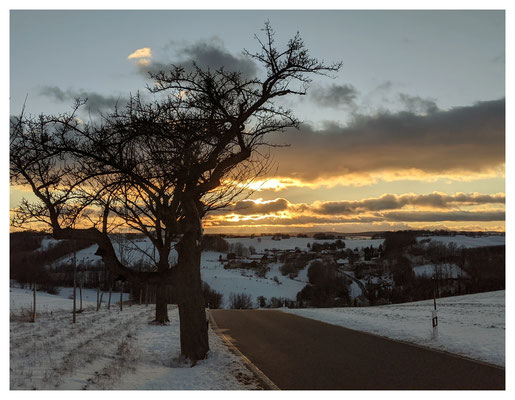 Winterabend nahe Hennersbach