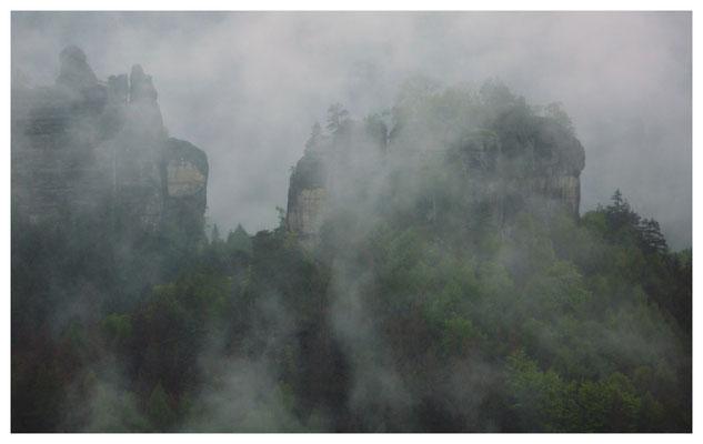 ...und der Winterstein verhüllt sich im Nebel