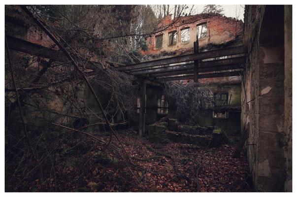 Ruine der Maimühle Hohnstein im Polenztal (16mm, f/5,6)