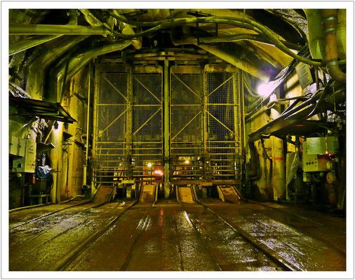 Füllort im Uranbergwerk Königstein
