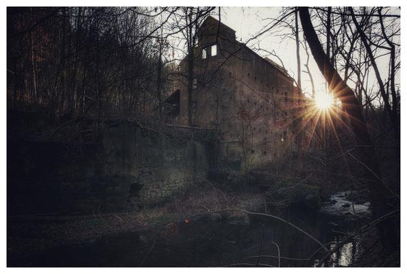Ruine der Bähr-Mühle Langenhennersdorf im Gottleubatal (16mm, f/8)