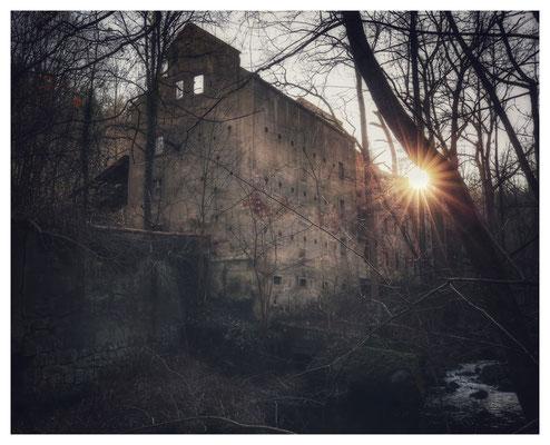 Ruine der Bähr-Mühle im Osterzgebirge