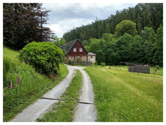 """""""im Loch"""" - einsame Häuser im Kirnitzschtal"""