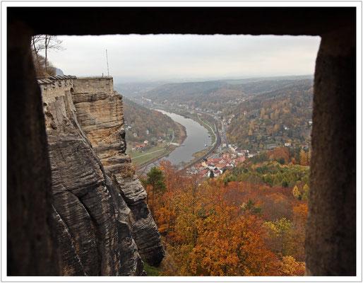 ...und wie die alten Wachposten auf's Städtchen Königstein