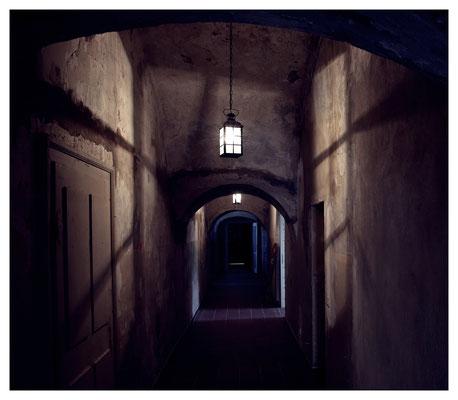 dunkle Gänge auf Schloss Struppen...
