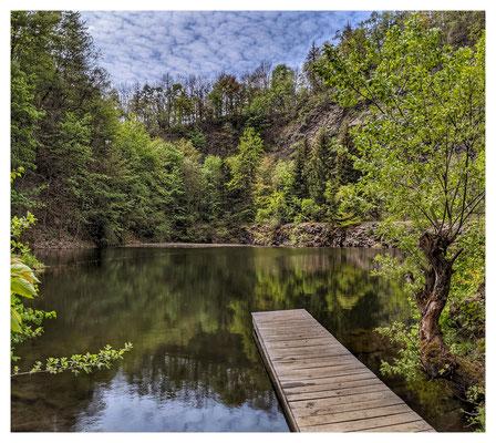 der alte Steinbruchsee am Geisingberg