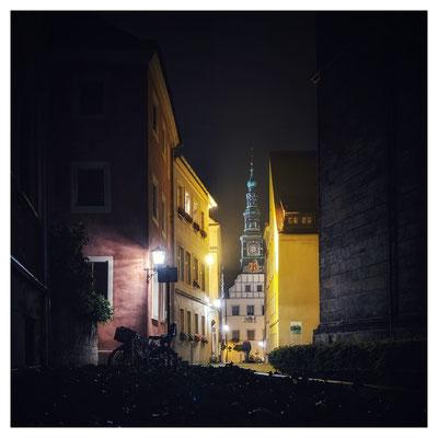abendlicher Blick in die Kirchgasse