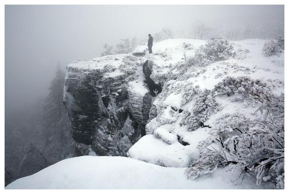 Winter auf dem Hohen Schneeberg (Děčínský Sněžník)