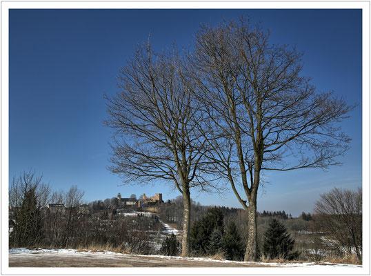 Tief im Osterzgebirge thront die alte Grenzburg Frauenstein...