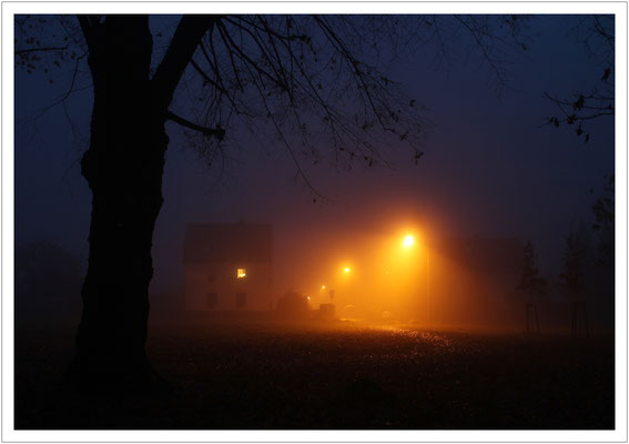 Novemberabend am Ehrenhain