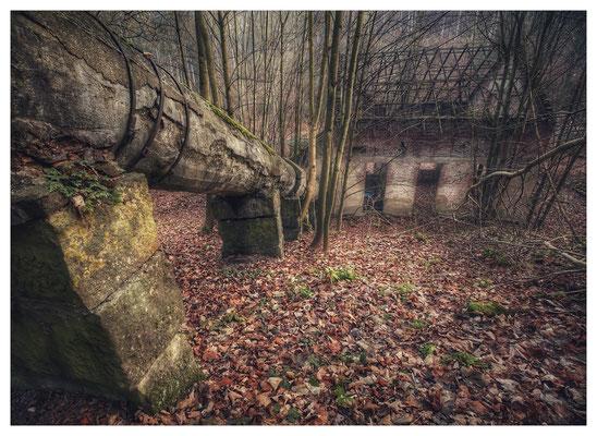 Ruine einer Holzschleiferei im Bielatal (16mm, f/5,6)
