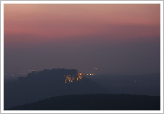abendlicher Blick zur Festung Königstein (2018)