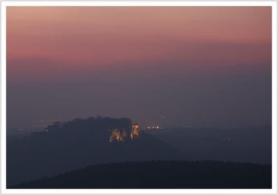 abendlicher Blick zur Festung Königstein