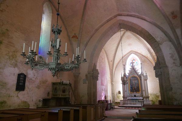 alte gotische Kirche in Karja