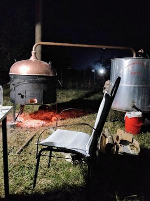 Motel & Restaurant Antik - am Abend wurde Schnaps gebrannt