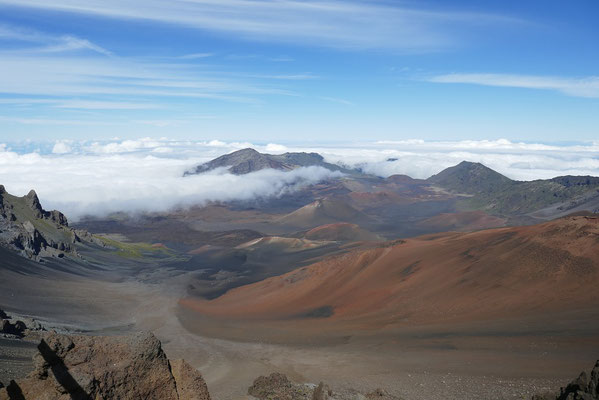 faszinierende Mondlandschaft im Haleakala Krater