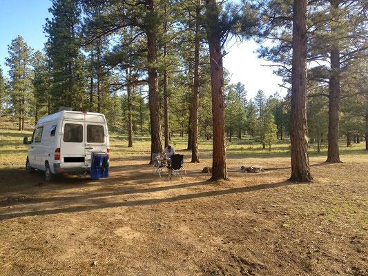 Übernachtungsplatz im Bryce Canyon