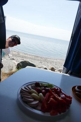 Mittagspause am Meer
