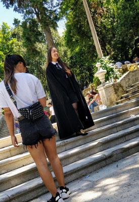 Coimbra - schick gemachte Studenten