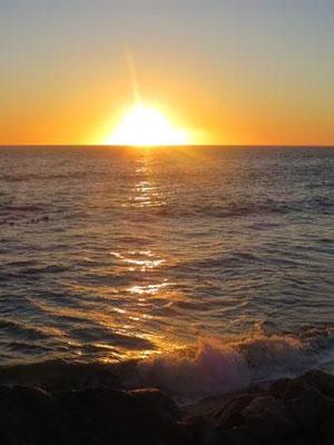 traumhafter Sonnenuntergang an der Jetty