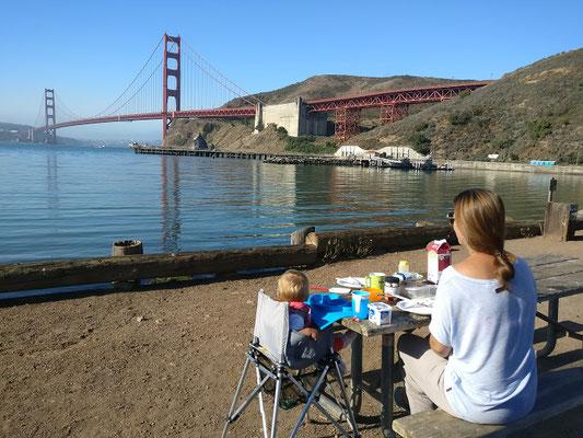 unser traumhafter Frühstücksplatz in San Francisco