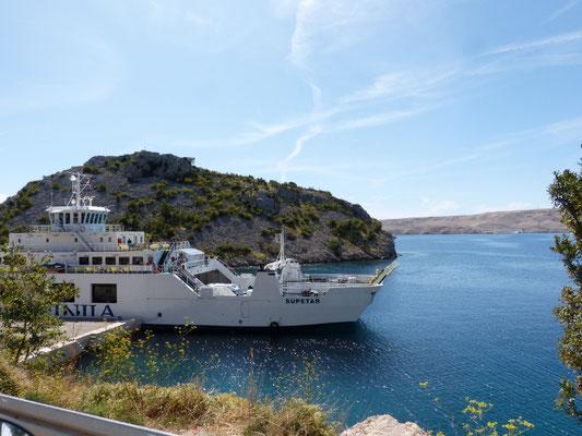 Kroatien - Fähre nach Pag