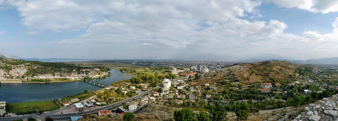 Blick von der Burg Rozafa in Shkodra