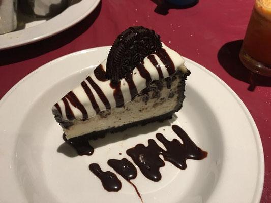 Oreo-Cheesecake im Hard Rock Café - göttlich!