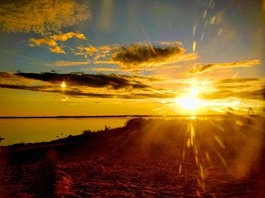 endlich gab es auch wieder schöne Sonnenuntergänge