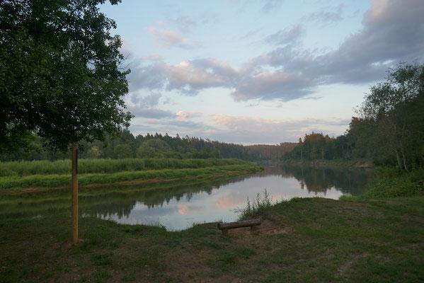 Abendstimmung am Fluss Gauja