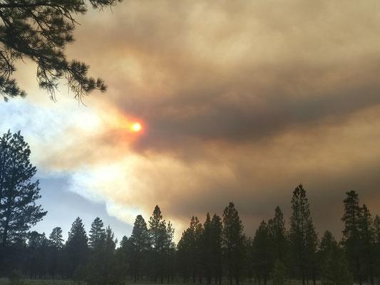 Rauchschwaden der Waldbrände in Utah