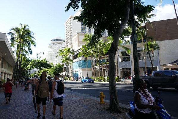 Einkaufsmeile in Waikiki
