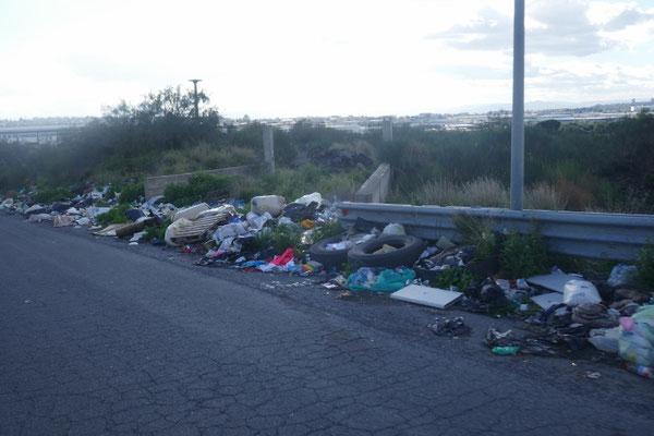 auch auf Sizilien hatte man das Müll-Thema nicht im Griff