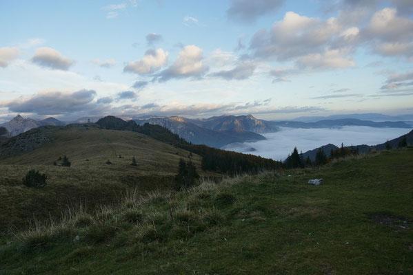 am Morgen lag das Tal noch im Nebel