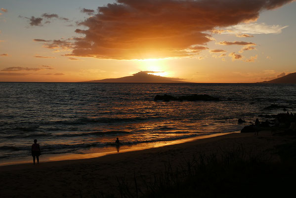 Sonnenuntergang in Kihei