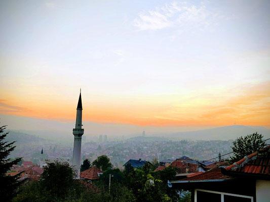 Sarajevo - unvergesslicher Blick vom Balkon