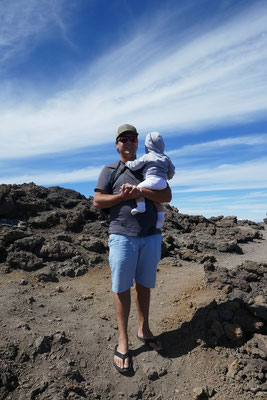 Auf dem Gipfel des Haleakala Vulkans