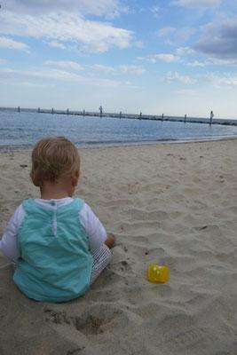 am Strand von North Beach