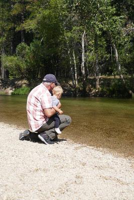 Yosemite Nationalpark - Steine werfen wurde Zoé's grösstes Hobby